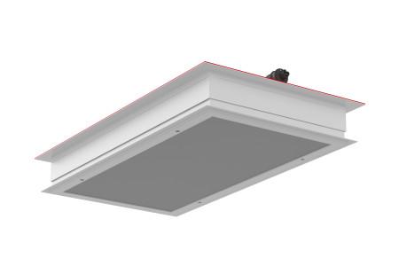 Luminaire salle propre Mg12 plafond sandwich